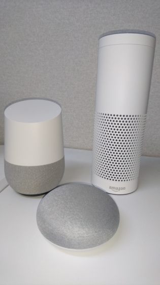 aiスピーカー(google home,google home mini,Amazon Echo Plus)