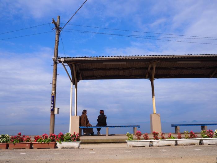 下灘駅の景色