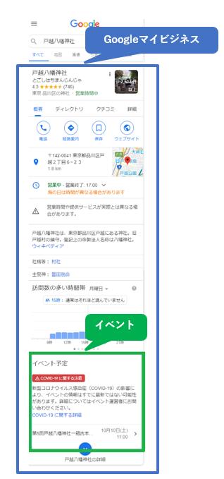スマートフォンでの検索結果