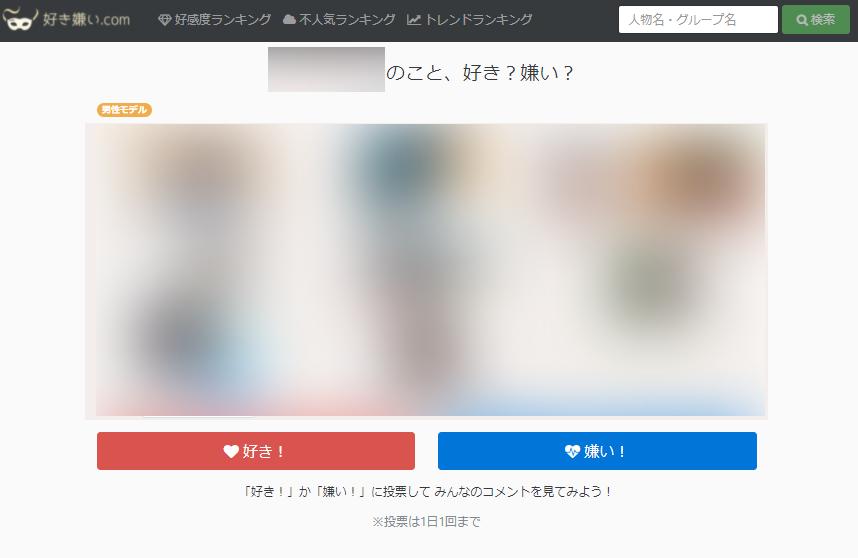 好き嫌い.com投票ページ