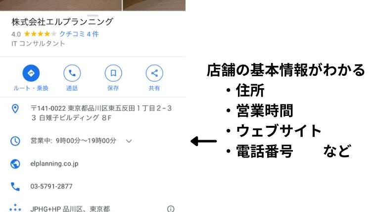 マップ検索のメリット